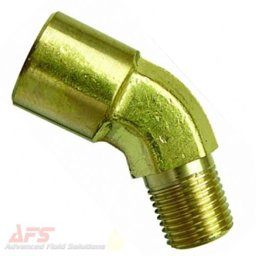 1/4 BSPT x BSP MxF Equal Brass 45° Elbow